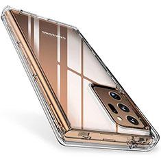Samsung Galaxy Note 20 Ultra 5G用極薄ソフトケース シリコンケース 耐衝撃 全面保護 クリア透明 T02 サムスン クリア