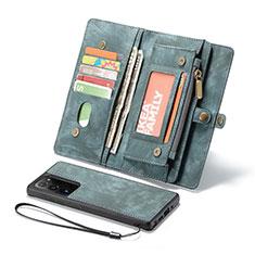 Samsung Galaxy Note 20 Ultra 5G用手帳型 レザーケース スタンド カバー L10 サムスン グリーン