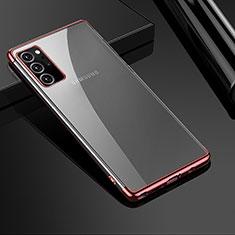 Samsung Galaxy Note 20 Ultra 5G用極薄ソフトケース シリコンケース 耐衝撃 全面保護 クリア透明 H01 サムスン ローズゴールド