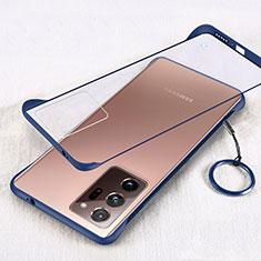 Samsung Galaxy Note 20 Ultra 5G用ハードカバー クリスタル クリア透明 S01 サムスン ネイビー