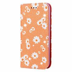 Samsung Galaxy Note 20 Ultra 5G用手帳型 レザーケース スタンド カバー N05 サムスン オレンジ