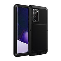 Samsung Galaxy Note 20 Ultra 5G用ケース 高級感 手触り良い アルミメタル 製の金属製 カバー N01 サムスン ブラック