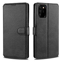 Samsung Galaxy Note 20 Ultra 5G用手帳型 レザーケース スタンド カバー N12 サムスン ブラック