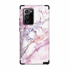 Samsung Galaxy Note 20 Ultra 5G用ハイブリットバンパーケース プラスチック 兼シリコーン カバー 前面と背面 360度 フル N02 サムスン ブラック