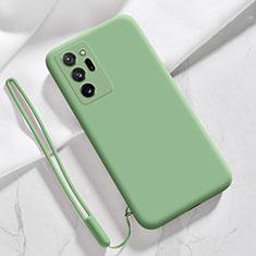 Samsung Galaxy Note 20 Ultra 5G用360度 フルカバー極薄ソフトケース シリコンケース 耐衝撃 全面保護 バンパー N03 サムスン ライトグリーン