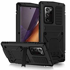 Samsung Galaxy Note 20 Ultra 5G用ケース 高級感 手触り良い アルミメタル 製の金属製 カバー N03 サムスン ブラック