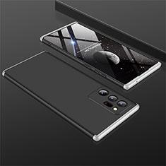 Samsung Galaxy Note 20 Ultra 5G用ハードケース プラスチック 質感もマット 前面と背面 360度 フルカバー M01 サムスン シルバー・ブラック