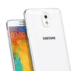 Samsung Galaxy Note 3 N9000用極薄ソフトケース シリコンケース 耐衝撃 全面保護 クリア透明 サムスン クリア