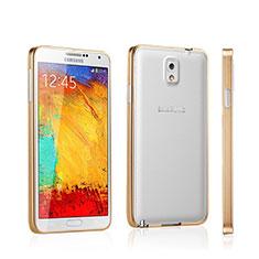 Samsung Galaxy Note 3 N9000用ケース 高級感 手触り良い アルミメタル 製の金属製 バンパー サムスン ゴールド