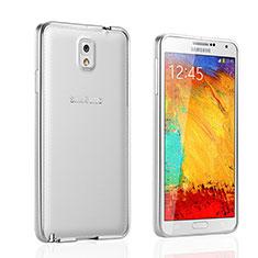 Samsung Galaxy Note 3 N9000用ケース 高級感 手触り良い アルミメタル 製の金属製 バンパー サムスン シルバー