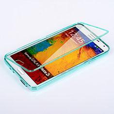 Samsung Galaxy Note 3 N9000用ソフトケース フルカバー クリア透明 サムスン ブルー