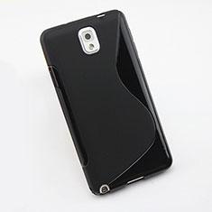 Samsung Galaxy Note 3 N9000用ソフトケース S ライン サムスン ブラック