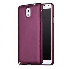 Samsung Galaxy Note 3 N9000用極薄ソフトケース シリコンケース 耐衝撃 全面保護 サムスン パープル