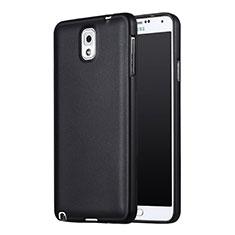 Samsung Galaxy Note 3 N9000用極薄ソフトケース シリコンケース 耐衝撃 全面保護 サムスン ブラック
