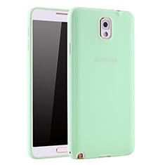 Samsung Galaxy Note 3 N9000用極薄ソフトケース シリコンケース 耐衝撃 全面保護 S01 サムスン グリーン