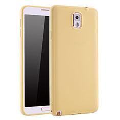 Samsung Galaxy Note 3 N9000用極薄ソフトケース シリコンケース 耐衝撃 全面保護 S01 サムスン ゴールド
