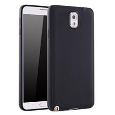 Samsung Galaxy Note 3 N9000用極薄ソフトケース シリコンケース 耐衝撃 全面保護 S01 サムスン ブラック