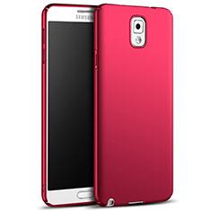 Samsung Galaxy Note 3 N9000用ハードケース プラスチック 質感もマット M05 サムスン レッド