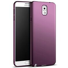 Samsung Galaxy Note 3 N9000用ハードケース プラスチック 質感もマット M05 サムスン パープル