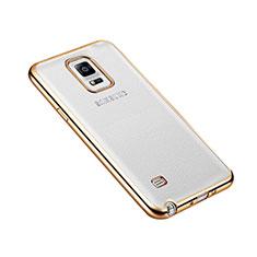 Samsung Galaxy Note 4 Duos N9100 Dual SIM用ケース 高級感 手触り良い アルミメタル 製の金属製 バンパー サムスン ゴールド