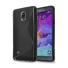 Samsung Galaxy Note 4 Duos N9100 Dual SIM用ソフトケース S ライン サムスン ブラック