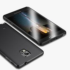 Samsung Galaxy Note 4 Duos N9100 Dual SIM用ハードケース プラスチック 質感もマット M01 サムスン ブラック