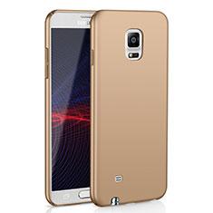 Samsung Galaxy Note 4 Duos N9100 Dual SIM用ハードケース プラスチック 質感もマット M02 サムスン ゴールド
