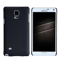 Samsung Galaxy Note 4 Duos N9100 Dual SIM用ハードケース プラスチック 質感もマット M05 サムスン ブラック