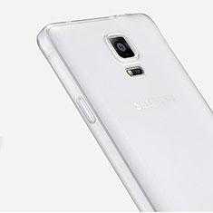 Samsung Galaxy Note 4 SM-N910F用極薄ソフトケース シリコンケース 耐衝撃 全面保護 クリア透明 サムスン クリア