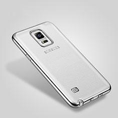 Samsung Galaxy Note 4 SM-N910F用ケース 高級感 手触り良い アルミメタル 製の金属製 バンパー サムスン シルバー