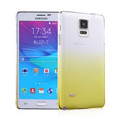Samsung Galaxy Note 4 SM-N910F用ハードケース グラデーション 勾配色 クリア透明 サムスン イエロー