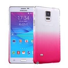 Samsung Galaxy Note 4 SM-N910F用ハードケース グラデーション 勾配色 クリア透明 サムスン ピンク