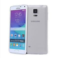 Samsung Galaxy Note 4 SM-N910F用極薄ソフトケース シリコンケース 耐衝撃 全面保護 クリア透明 T03 サムスン クリア