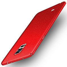 Samsung Galaxy Note 4 SM-N910F用ハードケース プラスチック カバー サムスン レッド