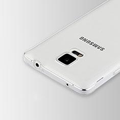 Samsung Galaxy Note 4 SM-N910F用極薄ソフトケース シリコンケース 耐衝撃 全面保護 クリア透明 T02 サムスン クリア