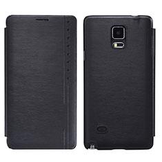 Samsung Galaxy Note 4 SM-N910F用手帳型 レザーケース スタンド サムスン ブラック
