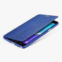Samsung Galaxy Note 4 SM-N910F用手帳型 レザーケース スタンド L01 サムスン ネイビー