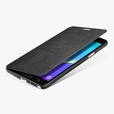 Samsung Galaxy Note 4 SM-N910F用手帳型 レザーケース スタンド L01 サムスン ブラック