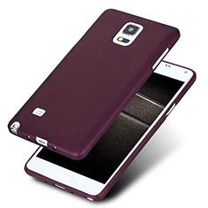 Samsung Galaxy Note 4 SM-N910F用極薄ソフトケース シリコンケース 耐衝撃 全面保護 S02 サムスン パープル