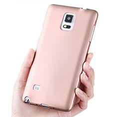 Samsung Galaxy Note 4 SM-N910F用極薄ソフトケース シリコンケース 耐衝撃 全面保護 S02 サムスン ローズゴールド
