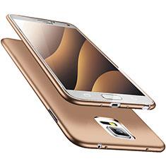 Samsung Galaxy Note 4 SM-N910F用極薄ソフトケース シリコンケース 耐衝撃 全面保護 S02 サムスン ゴールド