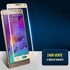 Samsung Galaxy Note 4 SM-N910F用強化ガラス フル液晶保護フィルム F02 サムスン ゴールド