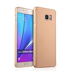 Samsung Galaxy Note 5 N9200 N920 N920F用ハードケース プラスチック 質感もマット サムスン ゴールド