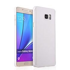 Samsung Galaxy Note 5 N9200 N920 N920F用ハードケース プラスチック 質感もマット サムスン ホワイト