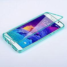 Samsung Galaxy Note 5 N9200 N920 N920F用ソフトケース フルカバー クリア透明 サムスン ブルー