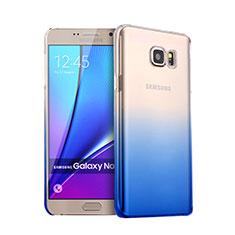 Samsung Galaxy Note 5 N9200 N920 N920F用ハードケース グラデーション 勾配色 クリア透明 サムスン ネイビー