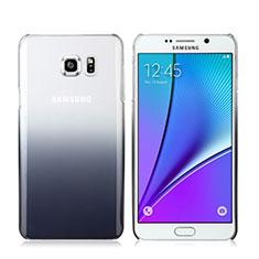 Samsung Galaxy Note 5 N9200 N920 N920F用ハードケース グラデーション 勾配色 クリア透明 サムスン グレー