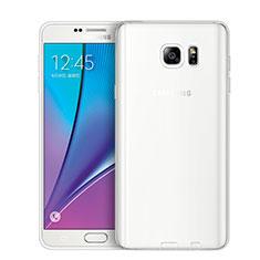 Samsung Galaxy Note 5 N9200 N920 N920F用極薄ソフトケース シリコンケース 耐衝撃 全面保護 クリア透明 T02 サムスン クリア