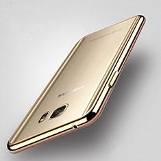 Samsung Galaxy Note 5 N9200 N920 N920F用バンパーケース クリア透明 サムスン ゴールド