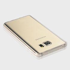 Samsung Galaxy Note 5 N9200 N920 N920F用極薄ソフトケース シリコンケース 耐衝撃 全面保護 クリア透明 T04 サムスン クリア